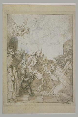 Saint Dominique recevant des bulles des mains d'un pape