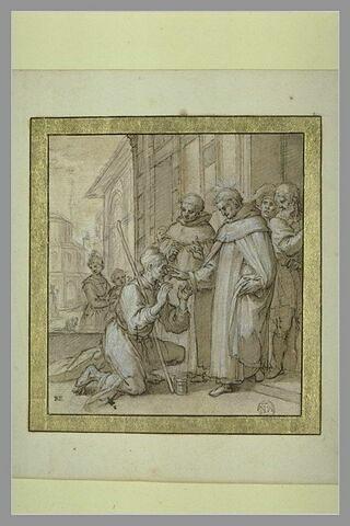 Saint Andrea Corsini guérissant un aveugle