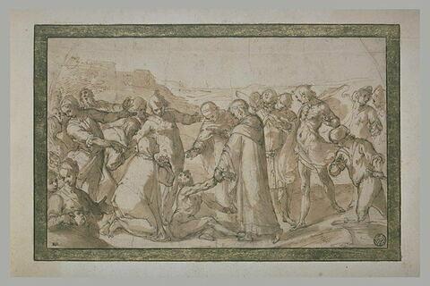 Saint Hyacinthe ressuscitant un noyé
