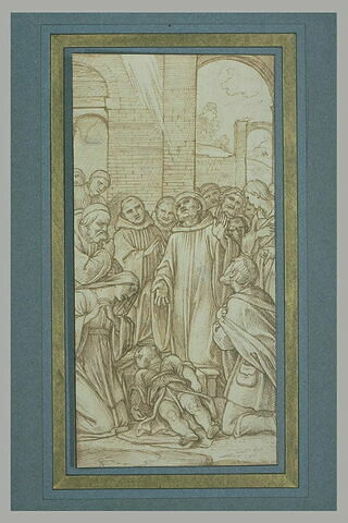 Le jardinier supplie saint Benoît de ressuciter son fils