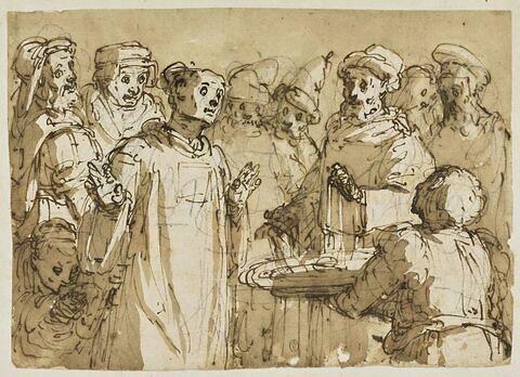 Saint Léonard de Limoges refusant des présents