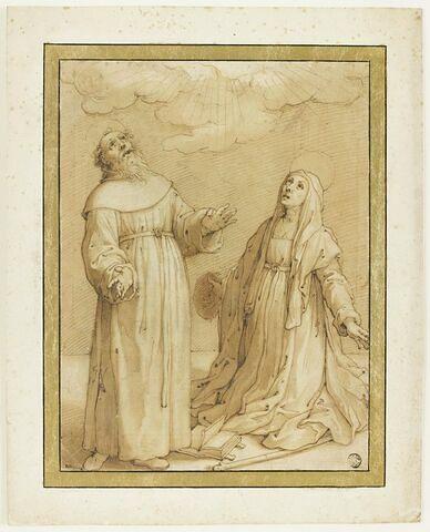 Sainte Scolastique et Saint Benoît