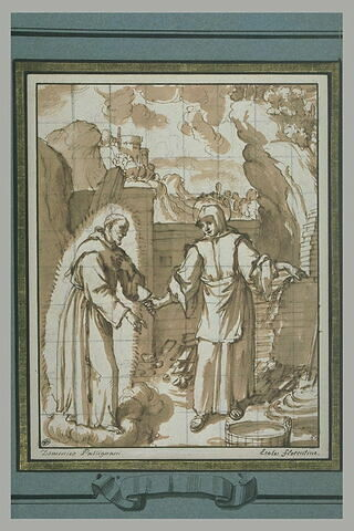 Apparition de saint François à sainte Marguerite de Cortone