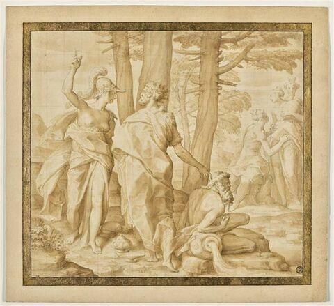 Athéna apprenant à Ulysse la manière dont il doit se présenter à la cour d'Alcinöus