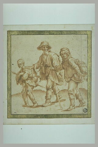 Trois gueux marchant vers la gauche