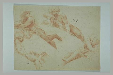 Quatre figures d'anges