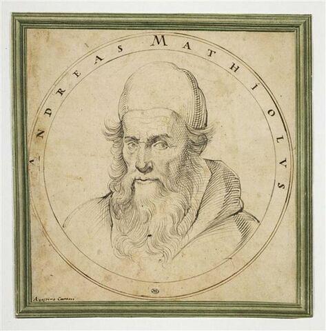 Portrait d'Andreas Mathiolus dans un tondo
