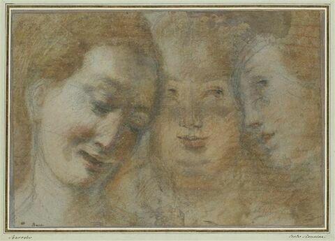 Trois études de têtes de femme