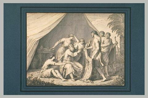 La robe ensanglantée apportée à Jacob