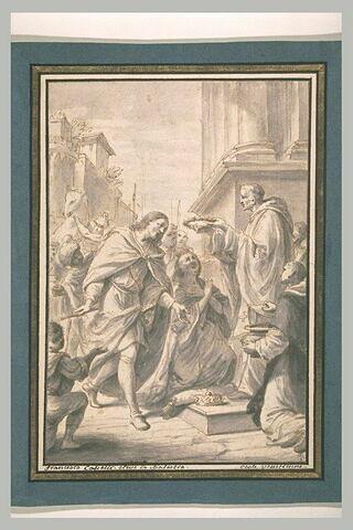 Saint-Louis recevant la couronne d'épine