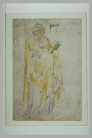 Saint Pierre debout, tenant les clefs et un livre
