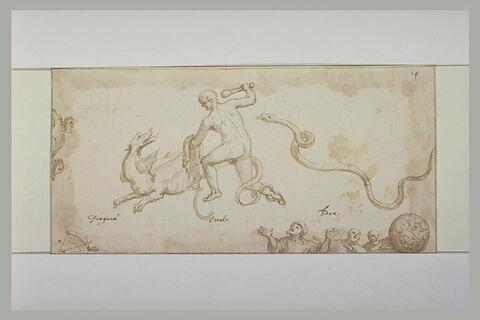 Hercule combattant le dragon