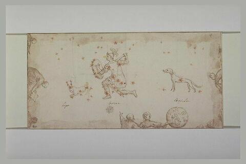 Trois signes du Zodiaque : le Chien, le Lapin et un soldat