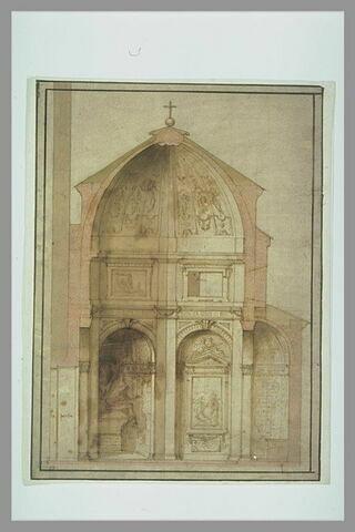 Coupe pour la chapelle Corsini, à Santa Maria del Carmine, à Florence