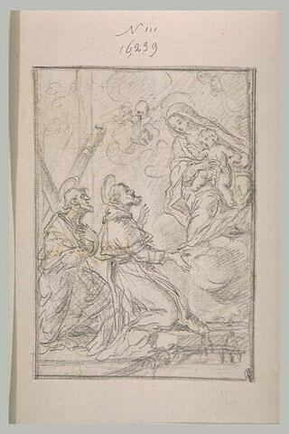 Apparition de la vierge à l'enfant à saint André et à un autre saint