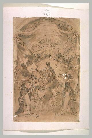 Vierge à l'Enfant donnant le rosaire à saint Dominique et à sainte Catherine