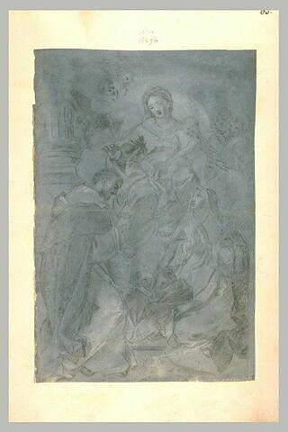 Apparition de la Vierge à l'Enfant à saint Dominique et à sainte Catherine