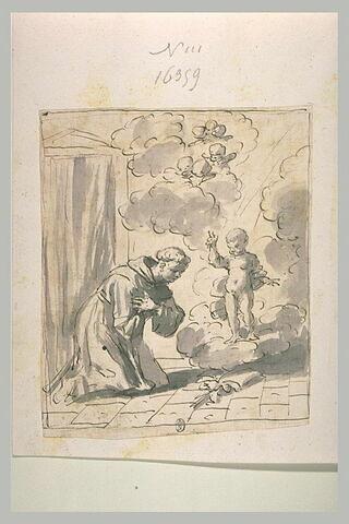 Enfant  Jésus bénissant un saint