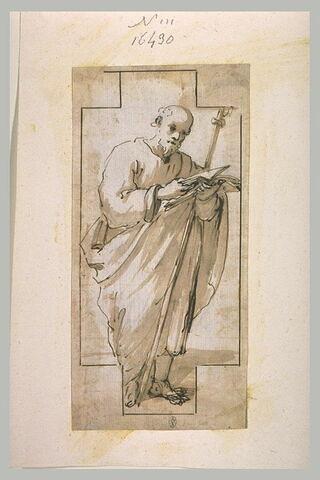 Saint Jacques, debout, lisant