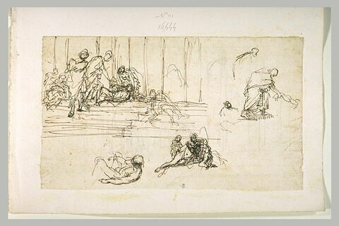 Guérison d'un infirme à la Porta Speciosa par Pierre et Jean