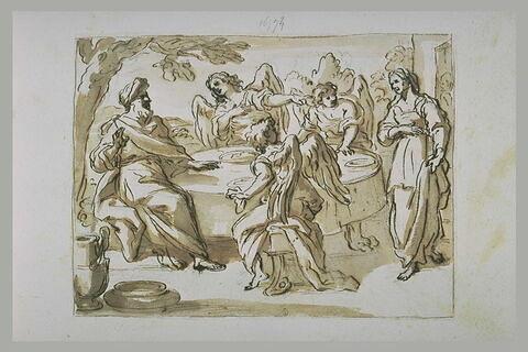 Visite des trois anges à Abraham et Sara
