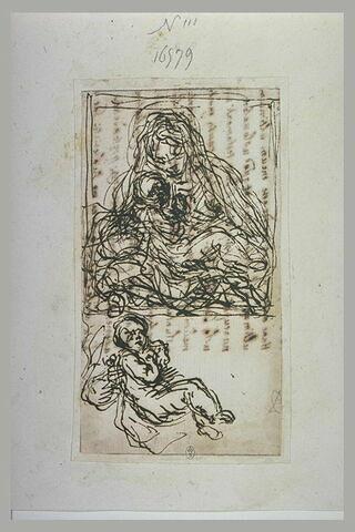 Vierge à l'Enfant, et reprise de la position de l'Enfant