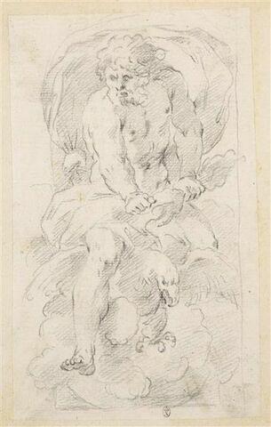 Jupiter assis sur l'aigle