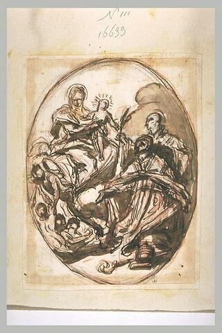 Vierge à l'Enfant adorée par deux saints