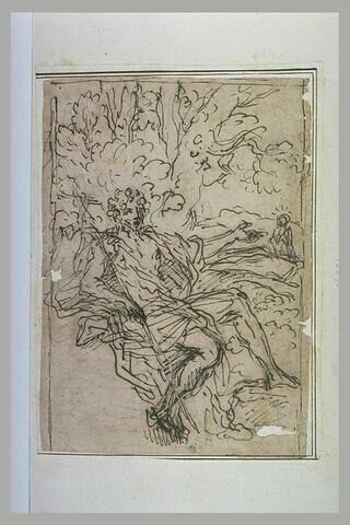 Saint Jean-Baptiste assis au pied d'un arbre