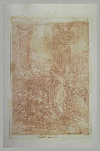 Saint Charles donnant la communion à des malades