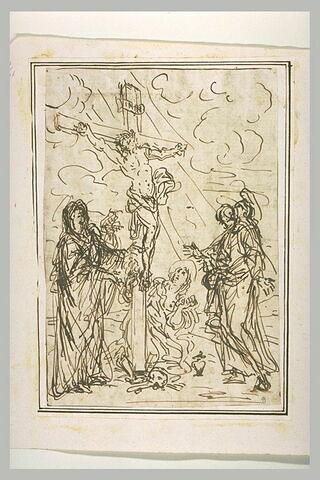 La Vierge Marie, saint Jean, sainte Madeleine, au pied de la Croix