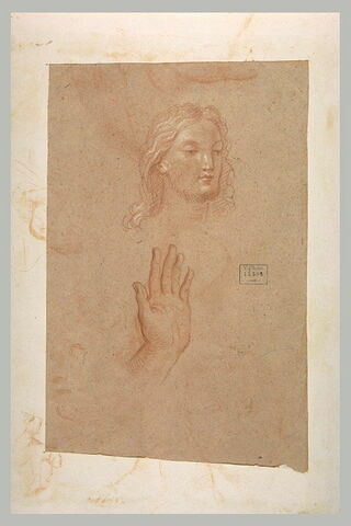 Tête de Christ, et main