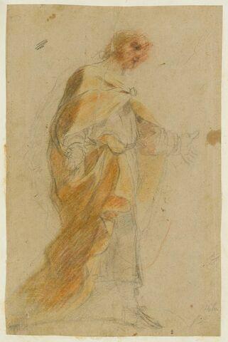Un homme, debout, les bras ouverts : Joseph
