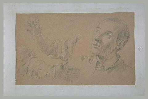 Une tête d'homme et deux bras : saint Charles Borromée