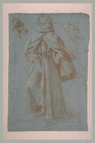Etude pour la figure et les mains de saint Pasquale Baylon