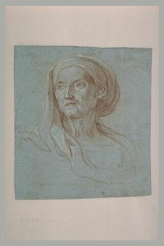 Tête de vielle femme, étude pour sainte Anne