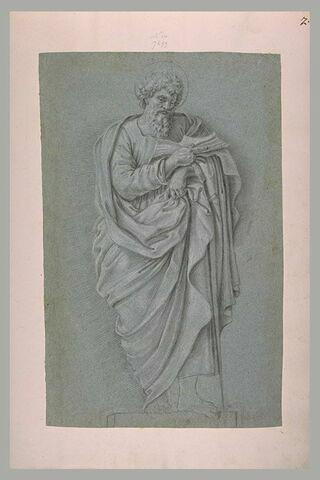 Saint Paul debout, appuyé sur une épée, un livre dans la main droite