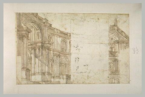 Vue de la cour intérieure d'un palais
