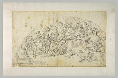 Salomé apportant la tête de saint Jean-Baptiste à Hérode et Hérodiade