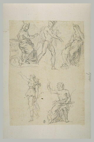 Diane, Jupiter, Mercure, et deux autres déesses