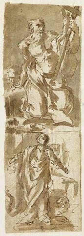 Saint Jérôme dans le désert, et saint Marc (?)