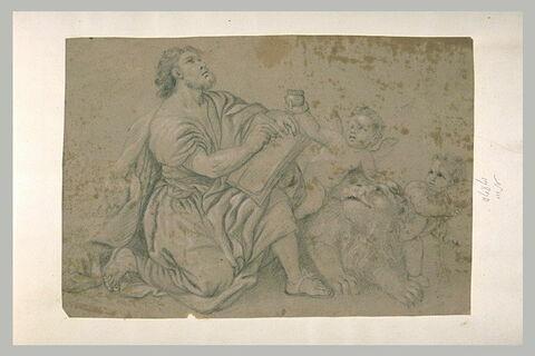 Saint Marc l'Evangéliste écrivant