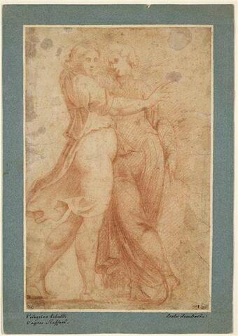 Deux figures debout, drapées