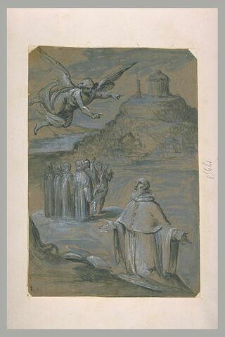 Apparition d'un ange à un religieux
