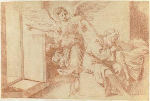L'ange apparaissant à Joseph pendant son sommeil