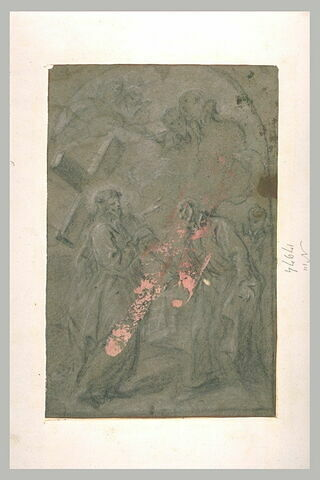 Apparition du Christ portant sa croix à saint Ignace de Loyola