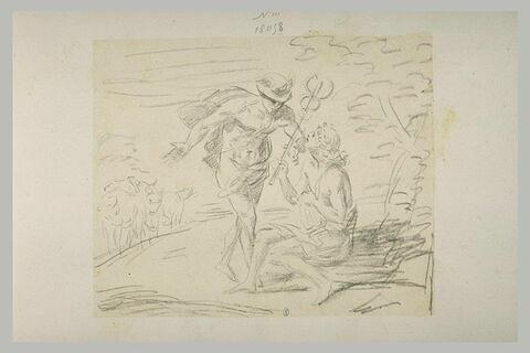 Apollon donnant le caducée à Hermès