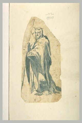 Moïse appuyé sur son bâton