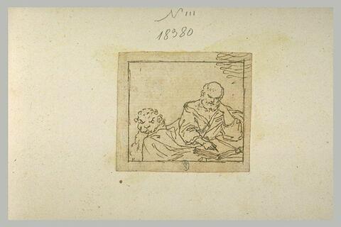 Saint Marc assis, écrivant