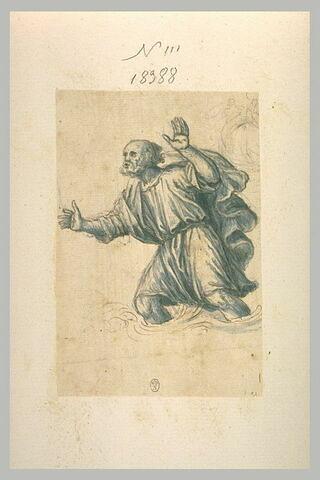Homme marchant dans l'eau, étude pour saint Pierre marchant sur les eaux ?